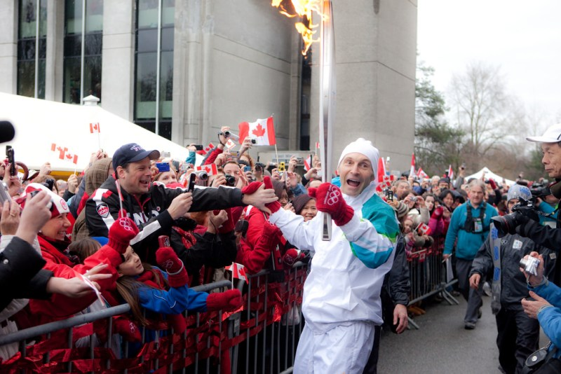 Vancouver Winter Olympics relay. Kris Krug photo/flickr.