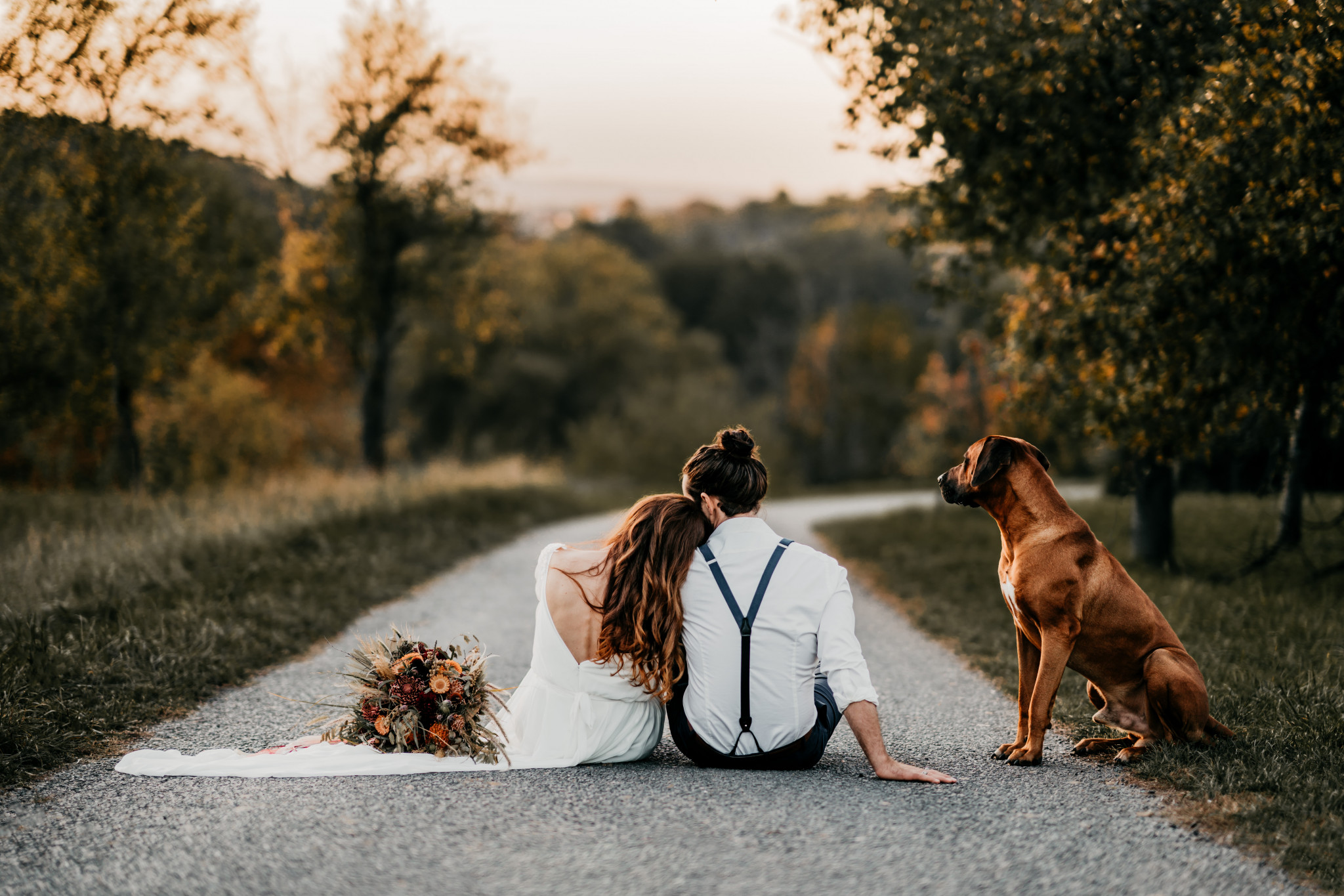 Bohemian After-Wedding-Shooting mit Hund