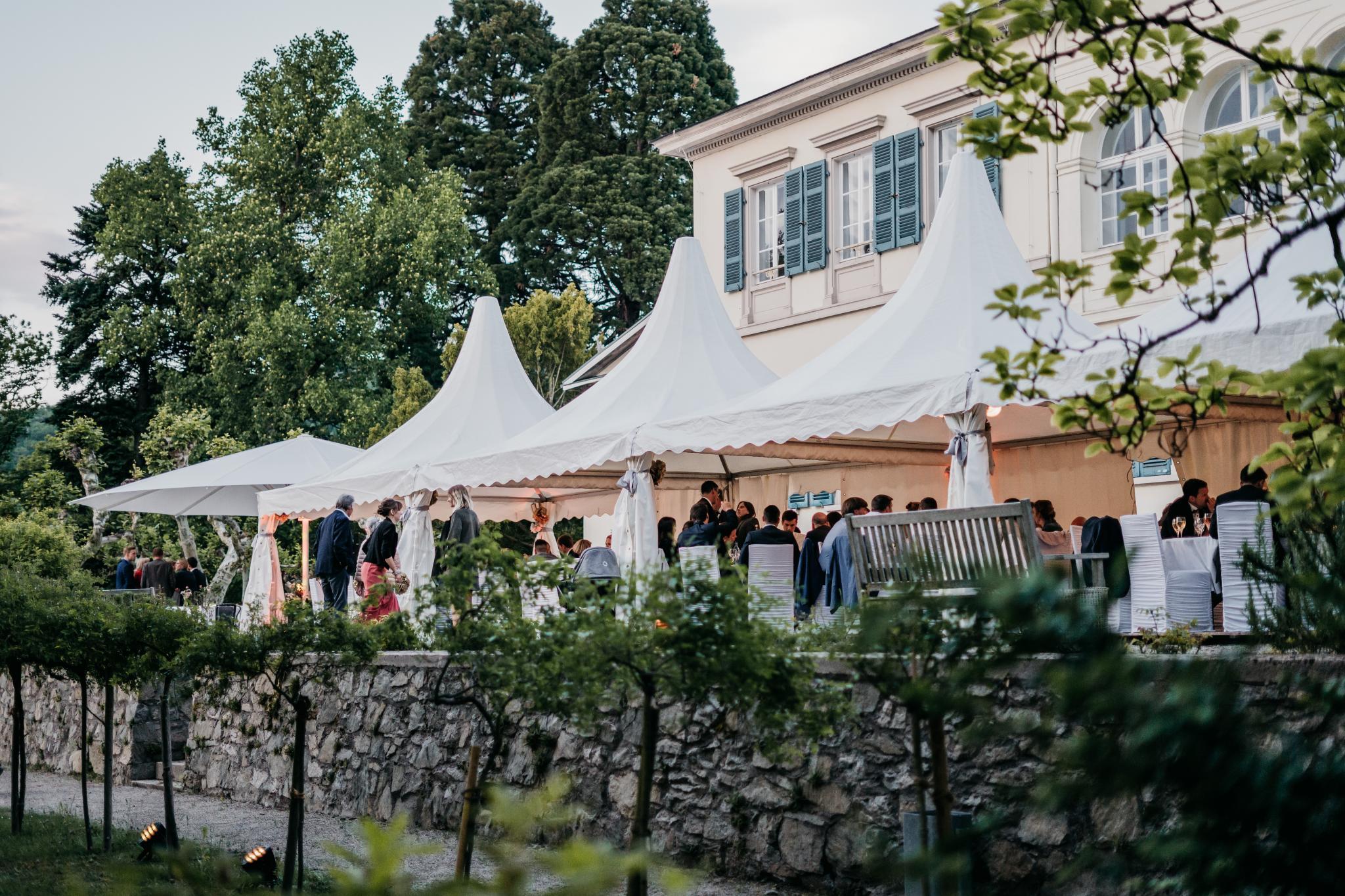 Hochzeit auf Schloss Heiligenberg Hochzeitszelt
