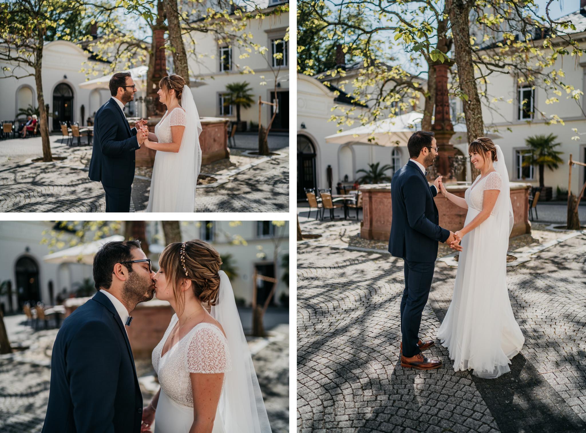 Hochzeit auf Schloss Heiligenberg Brautpaar-Shooting