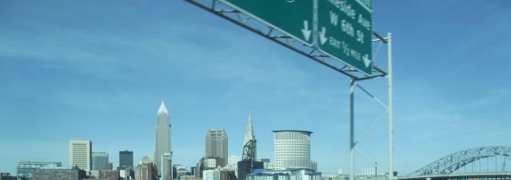 Cleveland Skyline from The Shoreway