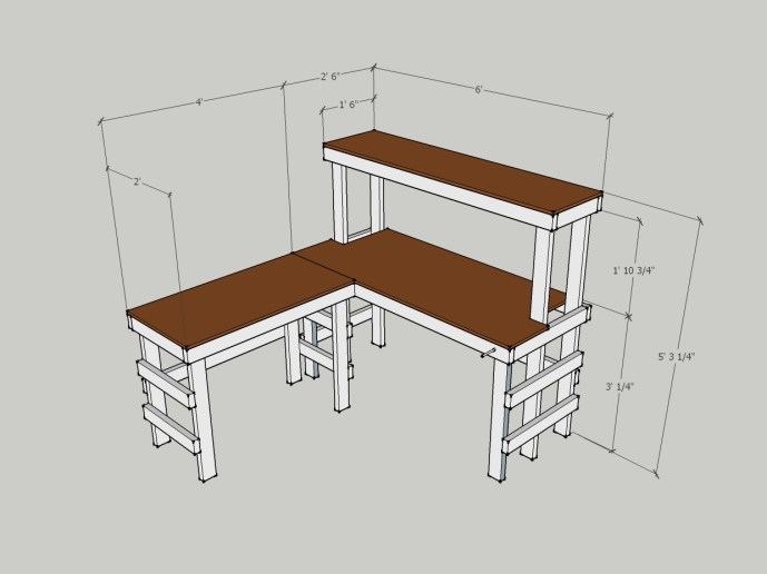 DIY Electronics Workbench SketchUp design