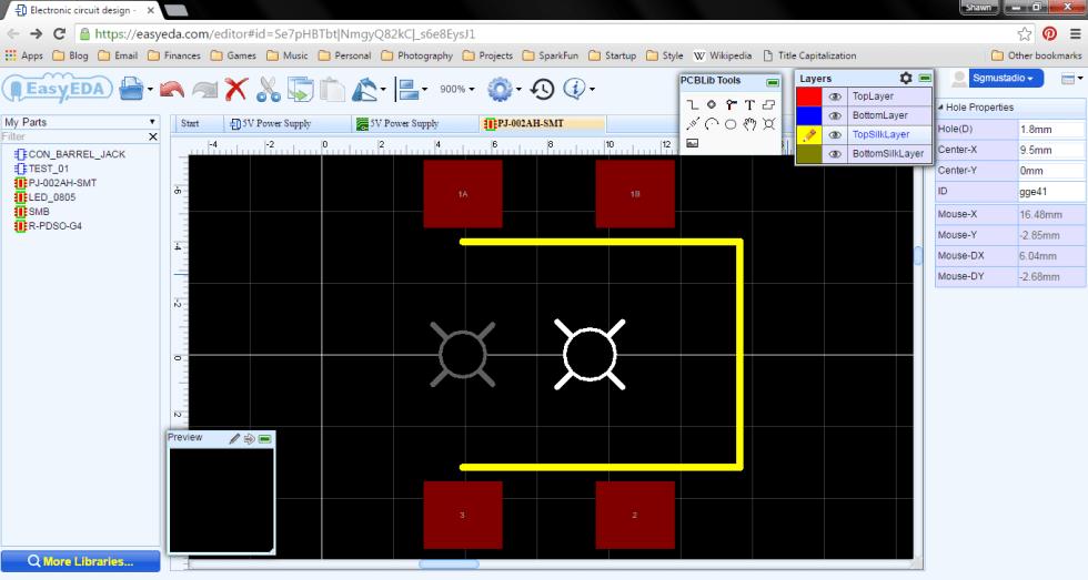 Adding 2 drill holes