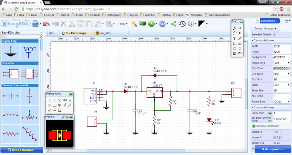 medium resolution of wiring up the schematic