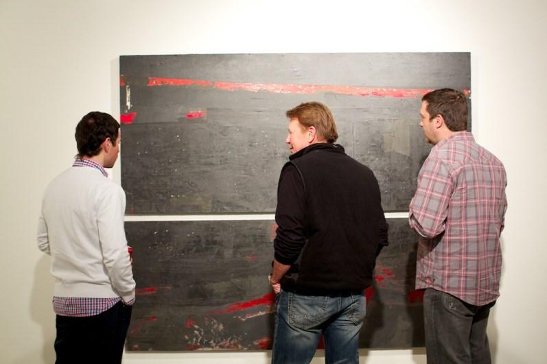 people looking art painting gallery