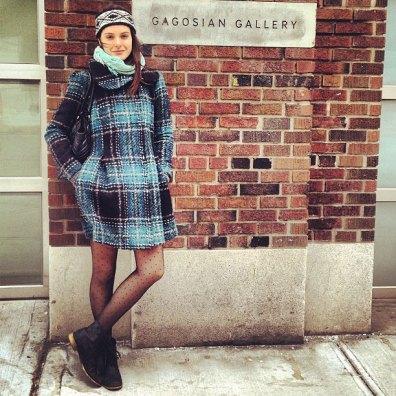 attractive gallery girl gagosian exterior sign