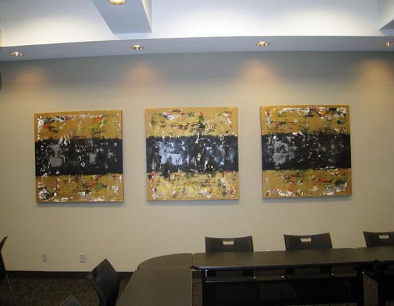 Summit Gold Triptych Modern Office