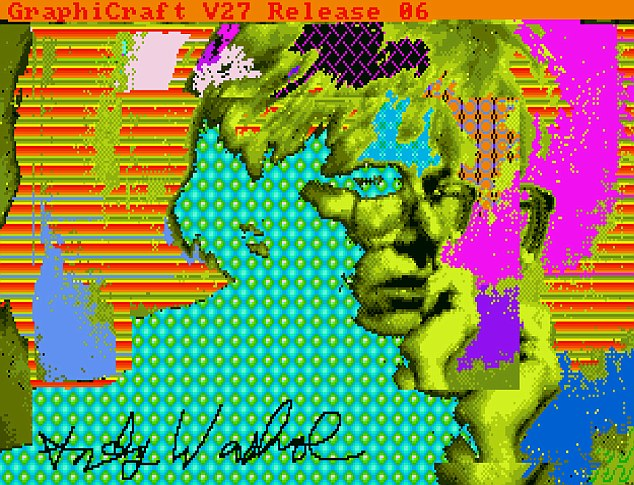 andy warhol lost computer art
