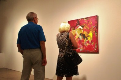 candid photo art gallery red abstract
