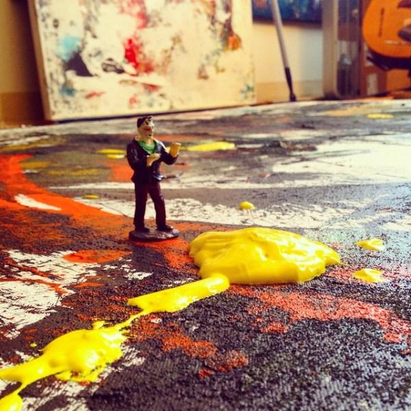 frankenstein-vs-blob-yellow-art-studio-photo