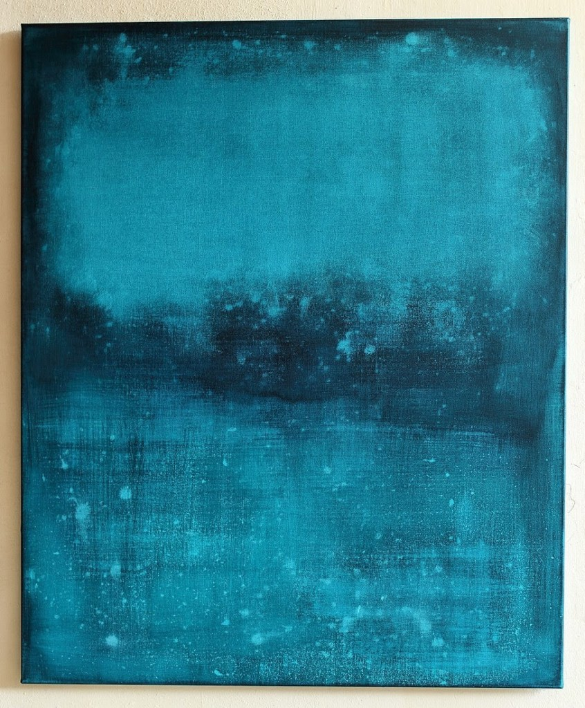Christian Hetzel floating blue art