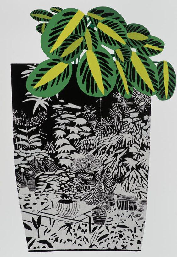 Jonas Wood Plant Pop Art Still Life