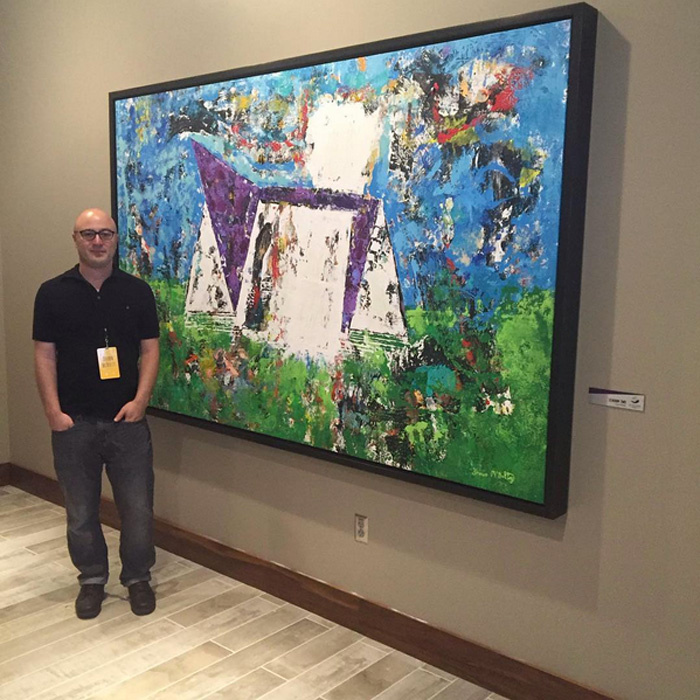 Abstract Painting Shawn McNulty Us Bank Vikings Stadium