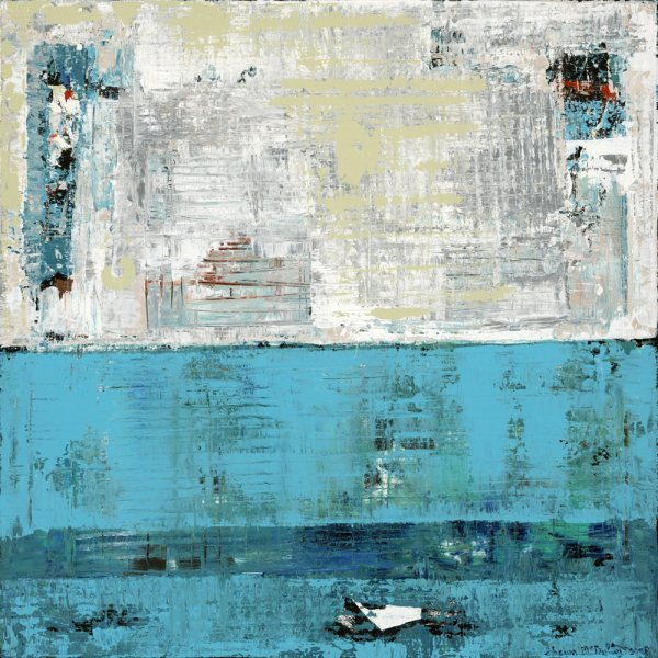 Fairbanks Light Blue Abstract Painting