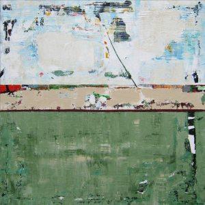 Avocado Green Abstract Modern Art Painting