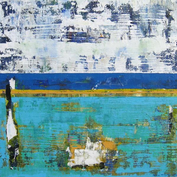 Drift Scuba Blue Aquamarine Modern Art