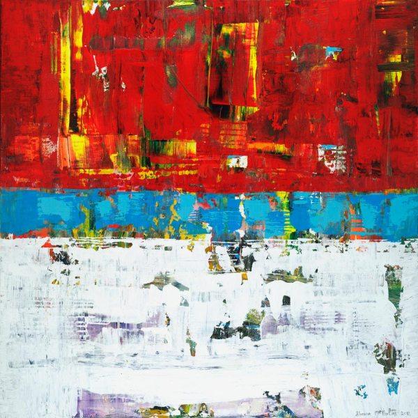 Folly 2 Red White Blue Patriotic Art Print