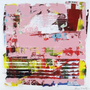 Grapefruit Benefit Pink Abstract Painting