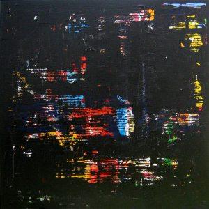 Iron Black Abstract Contemporary Art