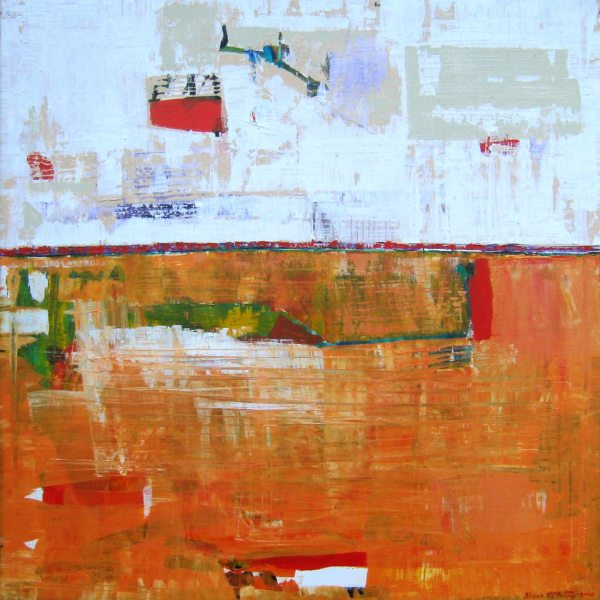 Julia Orange Butterfly Abstract Painting