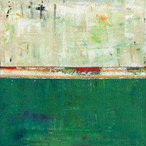 Limerick Irish Ireland Green Abstract Painting