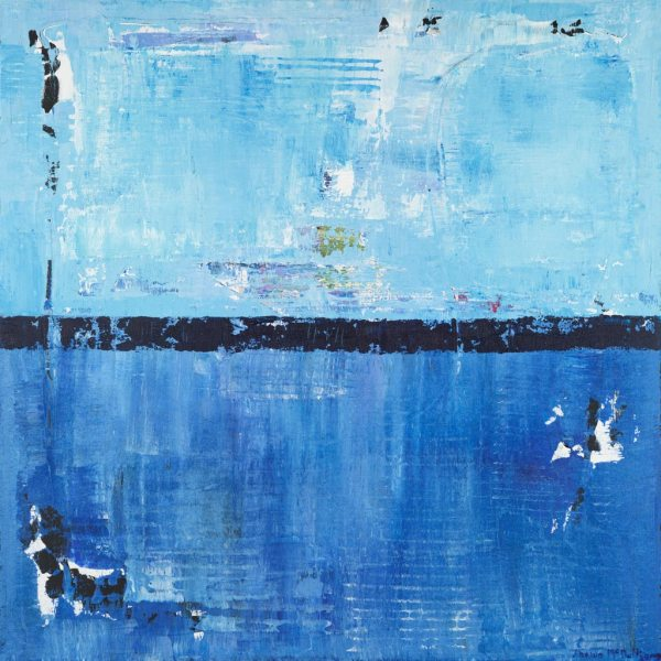 Shiver Blue On Blue Abstract Painting