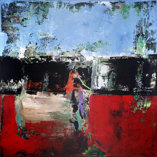 Blackburn1 Red Blue Modern Print