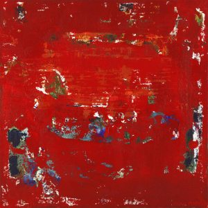 Cherry Red Color Abstract Red Artwork
