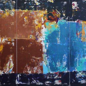 Solaris Movie Royal Blue Brown Painting