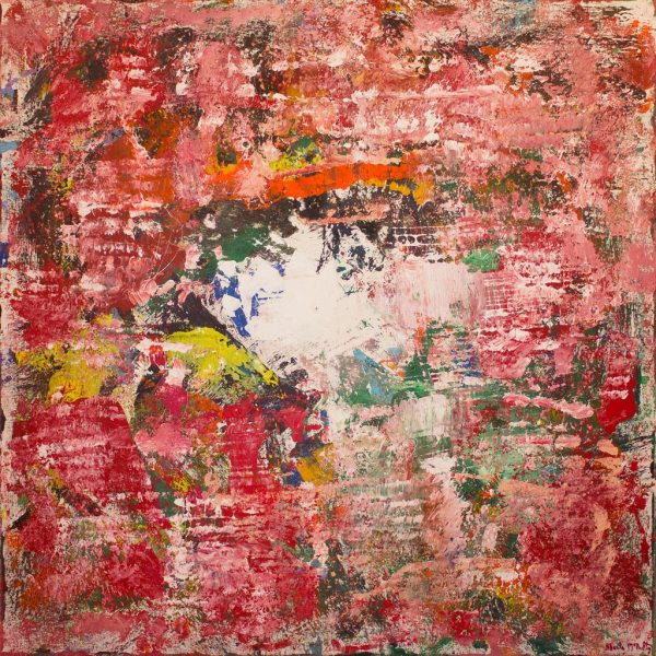 Sultan Of Swng Marsala Color Abstract Painting
