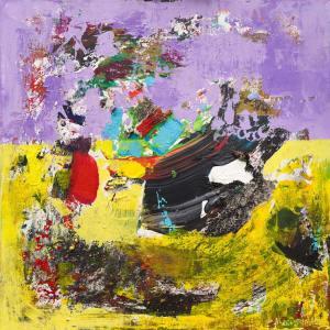 Perseids Meteor Shower Peak Abstract Painting