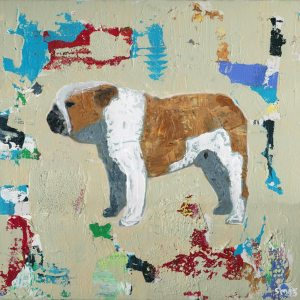 Bulldog Abstract Art Painting Giclee