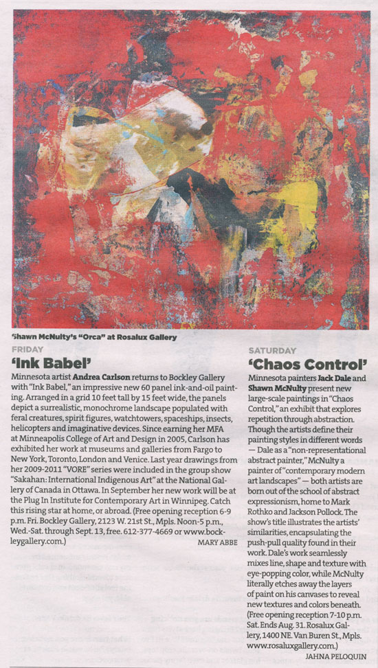 Chaos Control Vitamn Modern Art Minneapolis Review