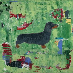 Dachshund Weiner Dog Abstract Art Print