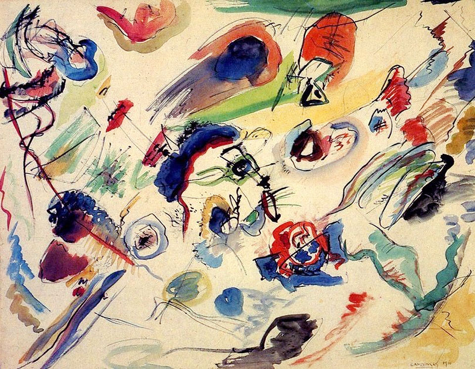 Kandinsky First Abstract Watercolor