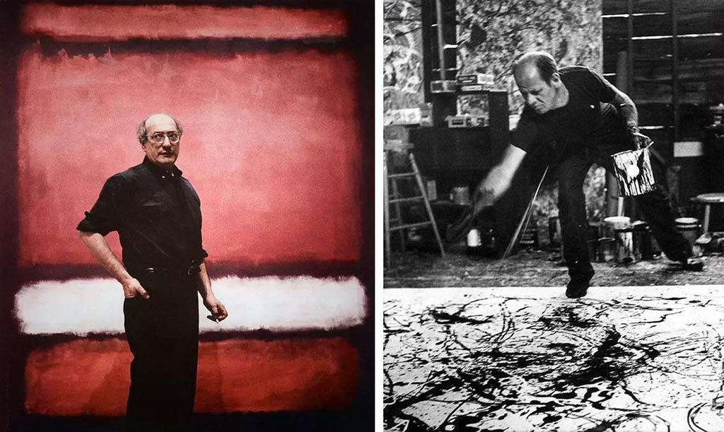 Mark Rothko And Jackson Pollock Together