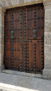 Large doors of Colombia