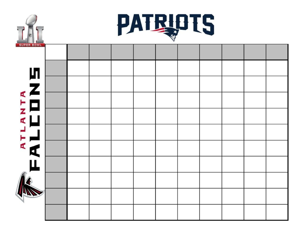 Search Results For Super Bowl Squares 50 Squares
