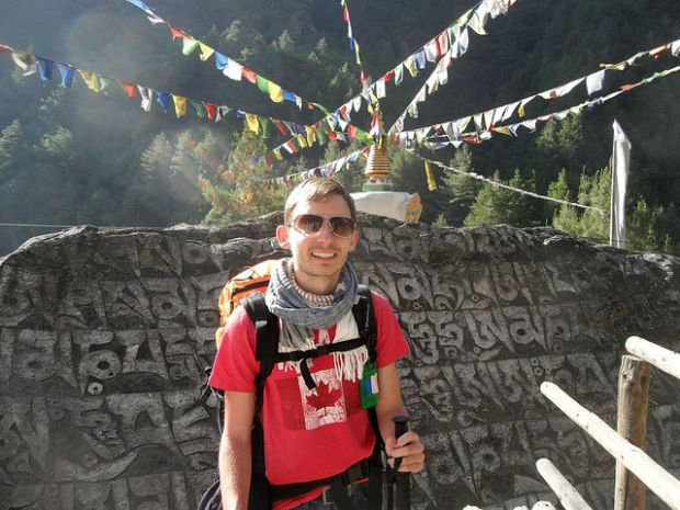 Nepal - Hiking in the himalayas near Lukla