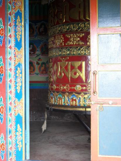 Prayer Wheel near Lukla Nepal