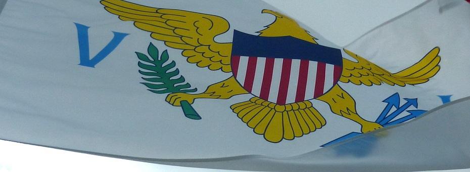 US Virgin Islands flags