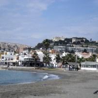 A beach north of Malaga
