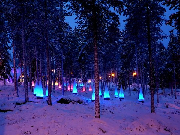 Lapland, Finland in the snow