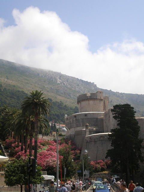 Entering the Fotified Dubrovnik