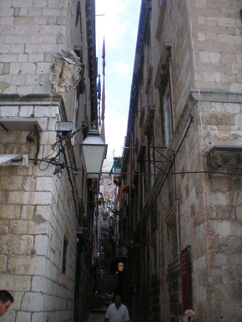 Narrow Street in Old Dubrovnik