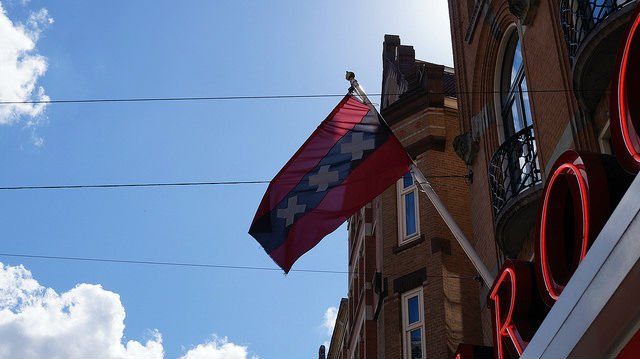 Amsterdam Netherlands - Amsterdam Flag