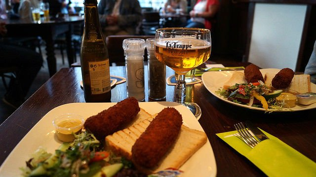 Amsterdam Netherlands - Dutch food with Dutch Beer