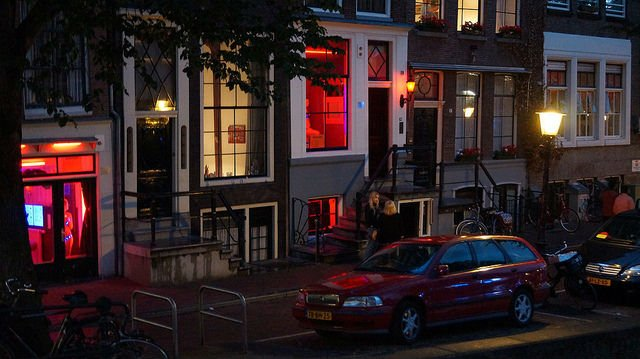 Amsterdam Netherlands - Prostitutes in the red-light district