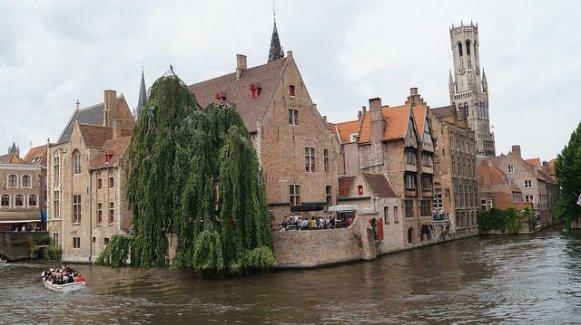 Bruges Belgium - Famous canal in Bruge Belgium