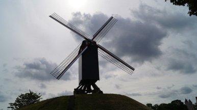 Bruges Belgium - Windmills in Bruges